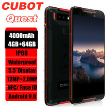 """5.5"""" Cubot Quest NFC 64GB Rugged Tough 4G Smartphone Android Waterproof Dual SIM"""