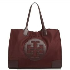 Tory Burch Ella Nylon Large Tote Port Burgundy 55228 SD