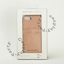 Michael Kors iPhone 7 iPhone 8 Saffiano Leather Pocket Snap-on Case Ballet Pink