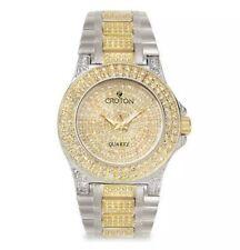 Croton Balliamo Men's Quartz Gold-Tone Pavé Dial 44mm Watch CN307538TTPV