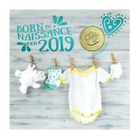 Born in 2019 Baby Gift Coin Set Canada Special Baby Shoes $1 Loonie Canadian