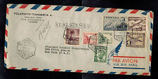 1951 Tangier Spanish Morocco Airmail Cover to USA Standard Coconut Corp