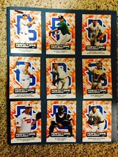 2015 PERFECT GAME Leaf card set - Moniak ~ Groome ~ Rutherford ~ Manning