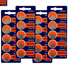 20 x SONY Lithium CR1216 batteries 3V Coin Cell DL1216 KRC1216 Watch EXP:2025