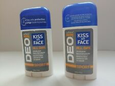 Kiss My Face Deo Natural Man Energizing Sport Scent Deodarent  Lot of 2