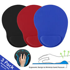 3 Pack Ergonomic Mouse Pad With Wrist Rest Support Mousepad Computer Laptop PC