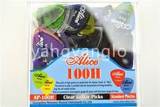 100pcs Alice Clear Transparent Acoustic Electric Guitar Picks With Original Box