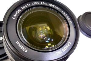 Canon EF-S 18-55mm f3.5-5.6 IS Lens for Digital Rebel T5 T3 T7 T6i cameras