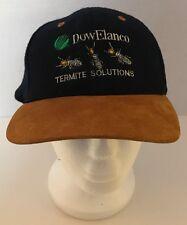 Vintage Dow Elanco Termite Solutions Wool Suede Trucker Cap Hat Adjustable