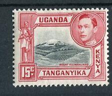 Kenya Uganda Tanganyika kgvi 1938-54 15 C BLACK & Rose-Rosso SG137 mm