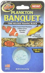 Zoo Med Plankton Banquet Regular Block Time Release Feeder Fish Food 1 Pack