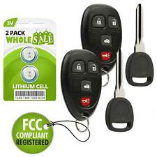 2 Replacement For 2007 2008 2009 Saturn Aura Key + Fob Remote