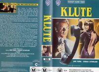 KLUTE - Jane Fonda - VHS - PAL - NEW - Never played! - Original Oz release