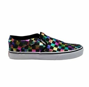 Vans Womens Asher 500714 Checkerboard Low Top Multicolor Comfort Shoes Size 9.5