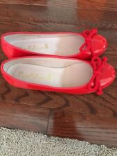 Pretty Ballerinas Brand Red Patent Leather Pumps 36.5 6 Heels Authentic Bow