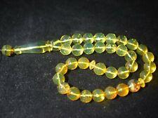 Misbaha Dominican Amber Islamic Prayer Tesbih Rosary Beads 9.86 mm (19.5 G)A315