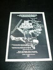 The Seven Samurai, film card (Toshiro Mifune) - Akiro Kurosawa film