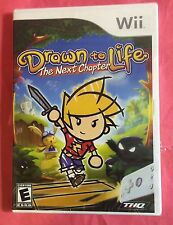 DRAWN to LIFE The Next Chapter Nintendo Wii & Wii U -3Pics,*Flaw=Pic#2 -NEW