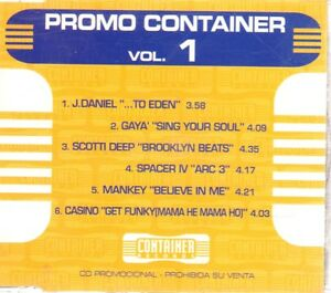 PROMO CONTAINER VOL1 CD Single Techno HOUSE DANCE MAX MUSIC