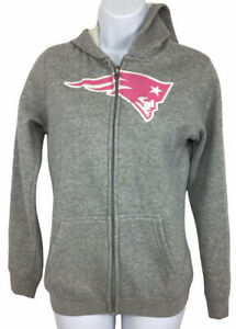 Girl's NFL Team Apparel New England Patriots Full Zip Hoodie Sz L 14 Sweatshirt