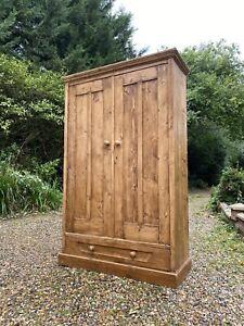 Reclaimed Antique Style Pine Hall Storage Linen Larder Cupboard Cabinet Wardrobe