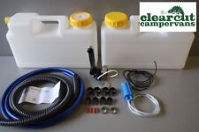 Plumbing Kit for Campervan Sink,Tap & Pump & 12l Water Containers Suit Smev 8005