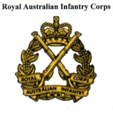 Royal Australia Infantry Corps  stickers