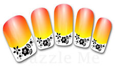 3D Nail Art Decals Transfer Stickers French Tip Design Flowers (3D834)