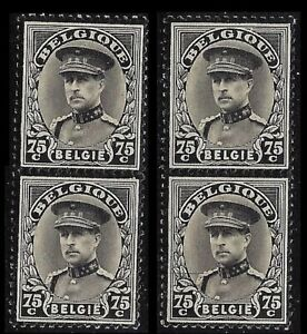 BELGIUM. King Albert Memorial Issue. 1934. Scott 257. Two pairs. MNH (BI#23)