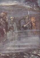 'THE GODS GROW WAN AND AGED.'1928 VINTAGE PRINT.Illustrated ARTHUR RACKHAM. PL.9