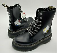 Hello Kitty Dr. Martens  collabo 8 hole Ladies  black  From Japan authentic