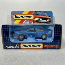 Matchbox Superkings K-95 Audi Quattro Diecast Blue NEW