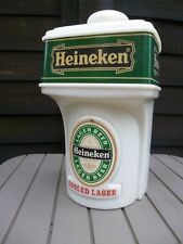 VINTAGE HEINEKEN LARGER BEER PUB BAR PUMP HEAD LIGHT BOX Man Cave Home Font