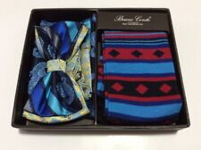 Men's Bowtie Hanky Dress Socks Matching Set Fashion Colors & Designs in Gift Box