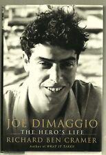 2000 Hardback w DJ-First Edition-Joe Dimaggio-A Hero's Life-Ben Cramer-Like New