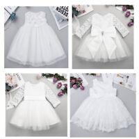Baby Girls Princess Flower Tutu Dress Bridesmaid Wedding Christening Baptism