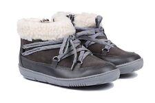 NUOVE Clarks MAXI MOON FST Grigio Scarpe Stivali in pelle-Taglia UK 6G