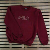 Mens Sweatshirt Fila Vintage Big Logo Red Size L