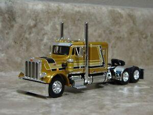 DCP 1/64 Gold Black 359 Peterbilt Semi Truck Farm Toy
