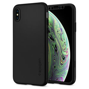 iPhone XS / XS MAX   Spigen® [Thin Fit 360] Slim Protective Case+Tempered Glass