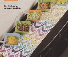 Crochet Pattern ~ FIESTA FUN Runner Crochet 'n' Weave ~ Instructions