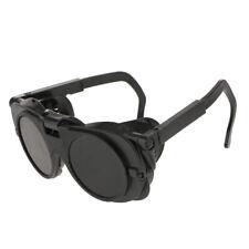 Welding Safety Goggles Glasses Dual Lens Soldering Anti Uv Flip Up Black Lens