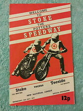 STOKE SPEEDWAY PROGRAMME 1975  v TEESIDE  2nd JULY  15th MEETING