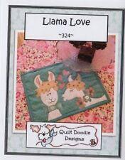PATTERN - Llama Love - applique rug mug PATTERN - Quilt Doodle Designs