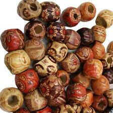 200pcs Mixed Large Hole Boho Wooden Beads for Macrame European Charms Crafts