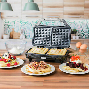 SALTER 2 SLICE Deep Fill Waffle Maker with XL Non-Stick Cooking Plates, 900W UK