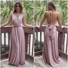 Custom Flirty Multi Way Wrap Convertible Party Bridesmaids' Maxi Long Dress Pink