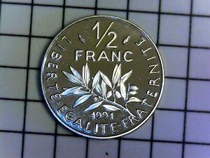 FRANCE 1/2 franc 1991 (BE) Belle épreuve du coffret - FDC