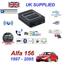 For Alfa Romeo 156 Bluetooth Telephone Streaming AUX Input 2x USB SD Card Reader