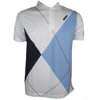 Kickers Polo Shirt Optic White Blue Mens Forcourt Tennis Sports Top size Small